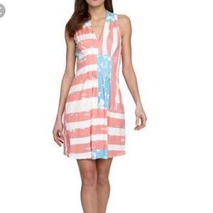 Catherine Melandrino Kristie American Flag Dress